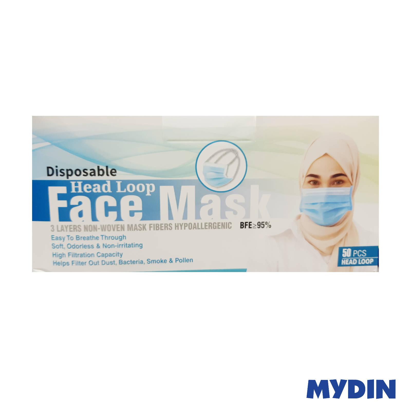 Face mask Head Loop Tudung Adult 3-ply (50pcs)