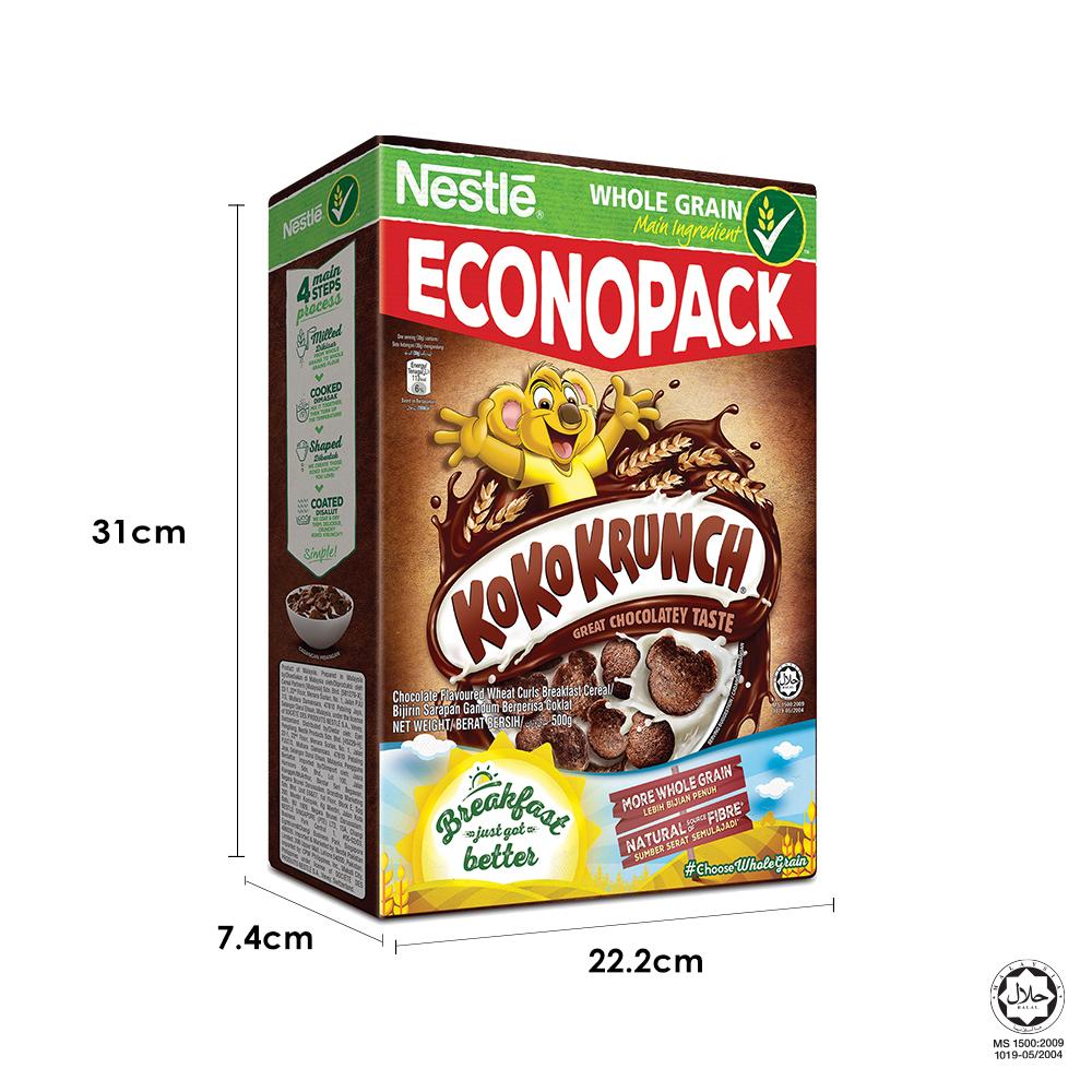 NESTLÉ KOKO KRUNCH Chocolate Cereal Econopack 500g FREE KOKO Mini Box