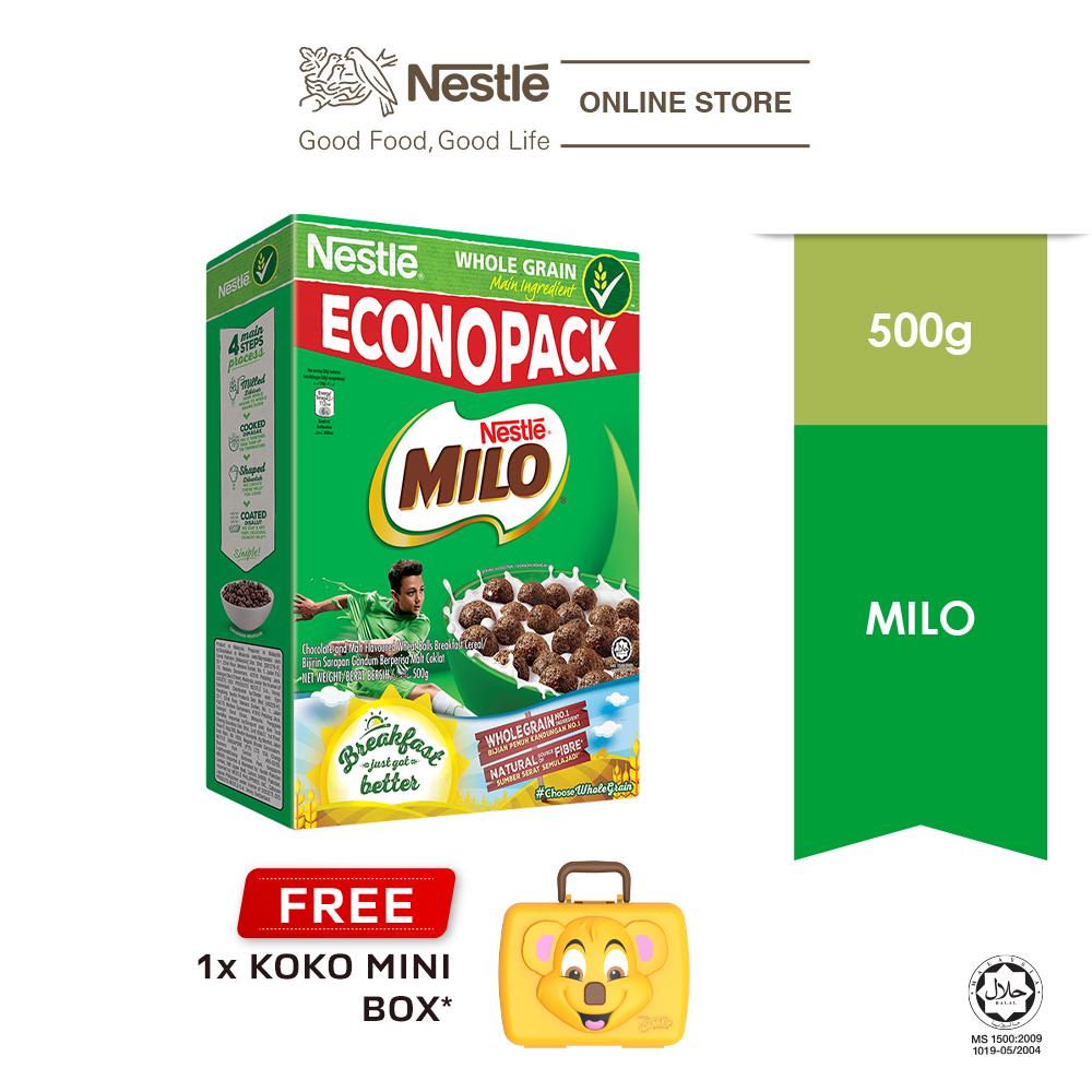 NESTLÉ MILO Cereal Econopack 500g FREE KOKO Mini Box