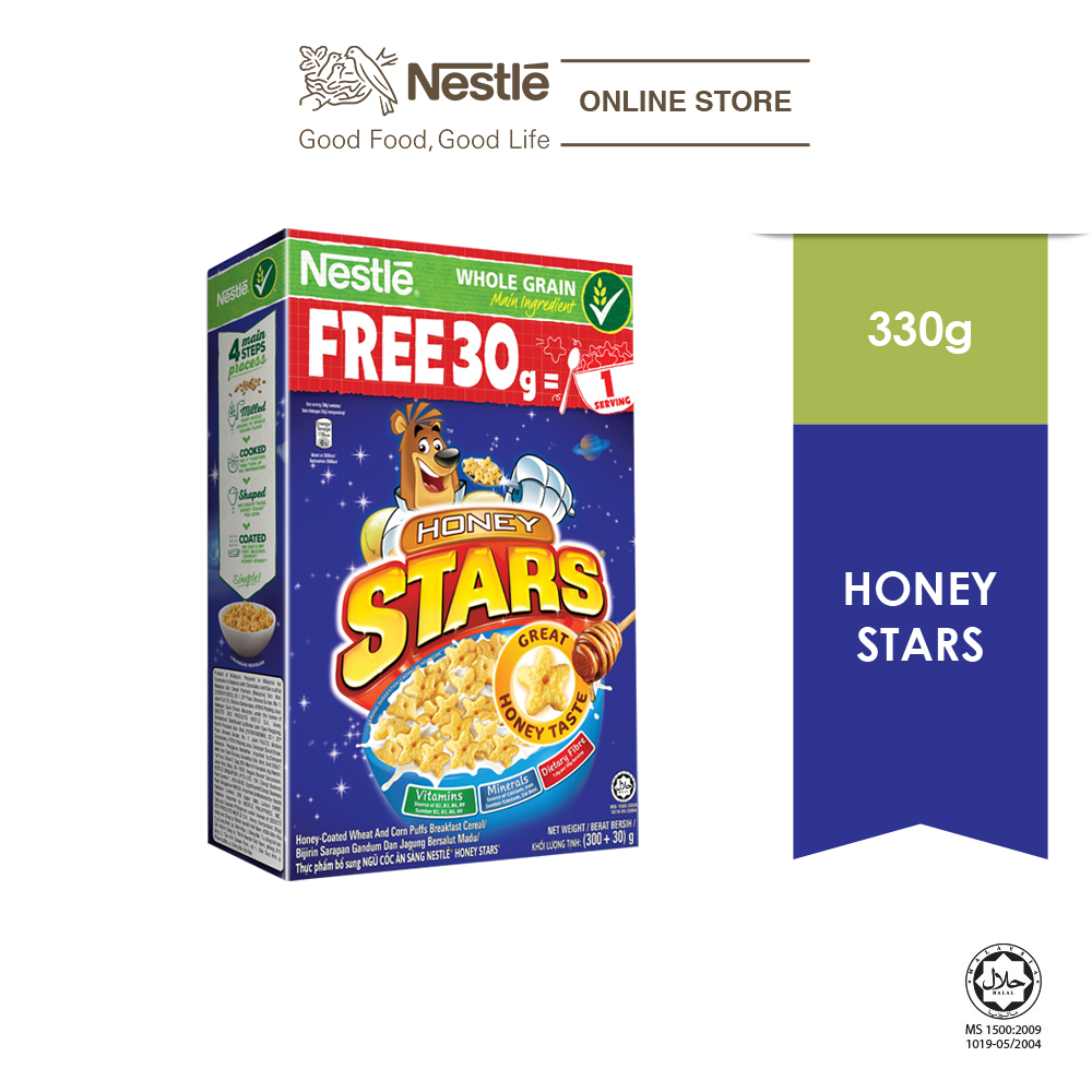 NESTLÉ HONEY STAR Large Cereal 300g bonus pack 30g