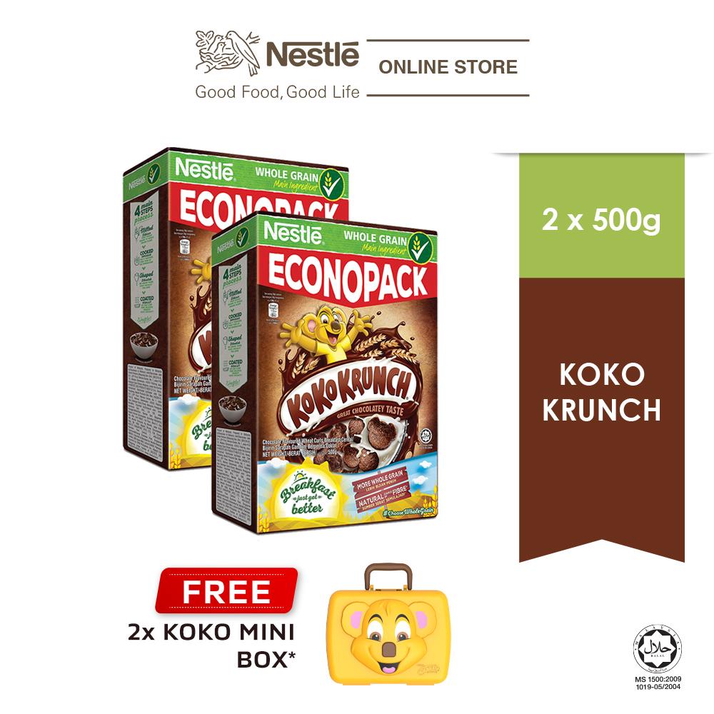 NESTLÉ KOKO KRUNCH Cereal Econopack 500g FREE KOKO Mini Box, x2 boxes