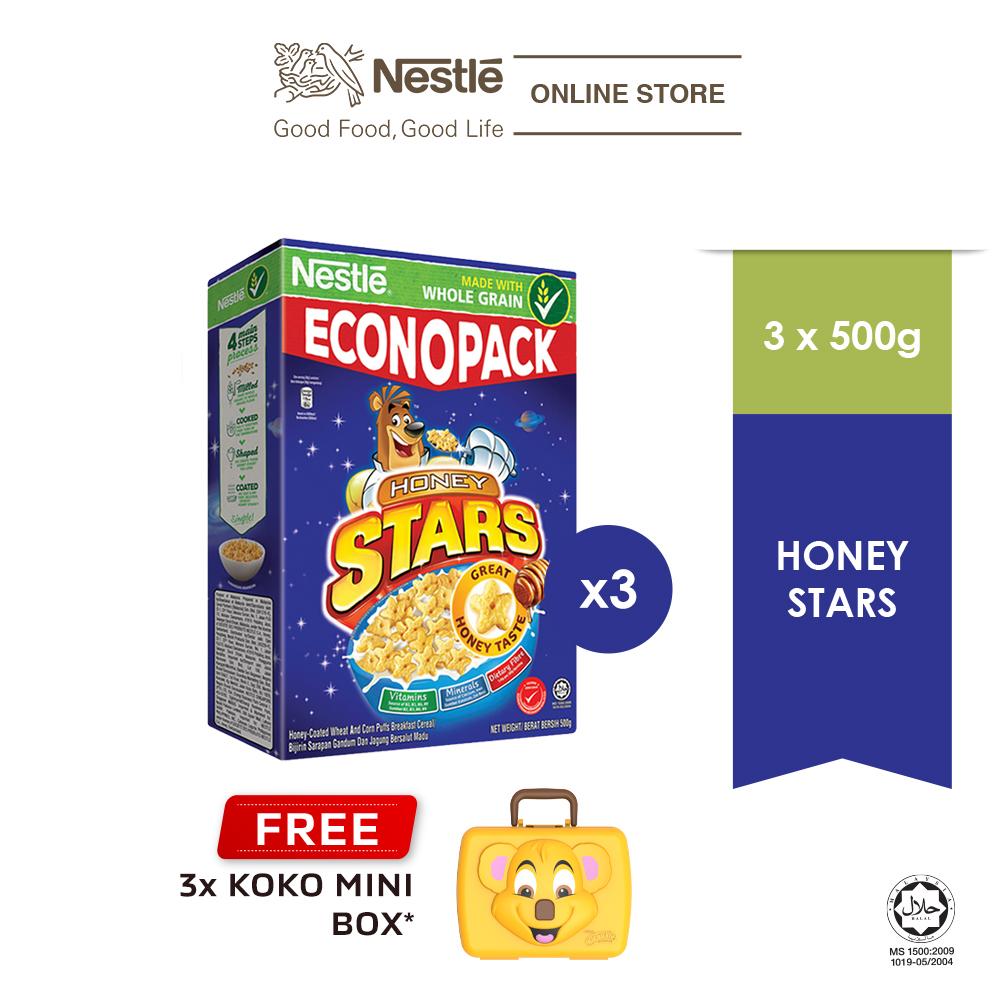 NESTLÉ HONEY STAR Econopack 500g FREE KOKO Mini Box, x3 boxes