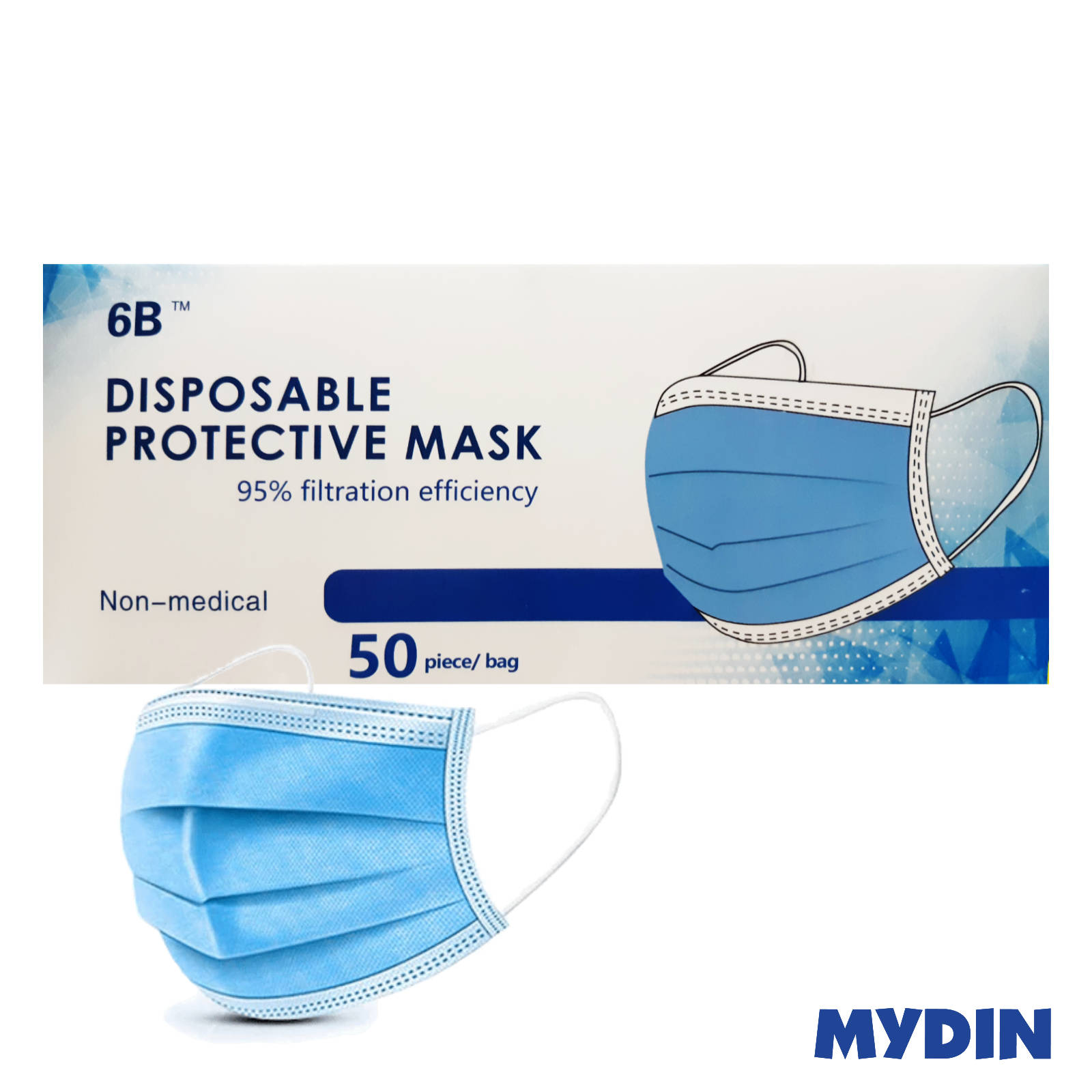 3-Ply Disposable Face Mask (Ear-loop Adult) - 50s/Box
