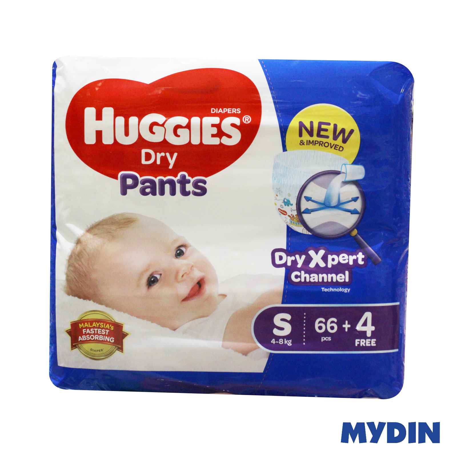 Huggies Dry Pants Mega S66 + 4