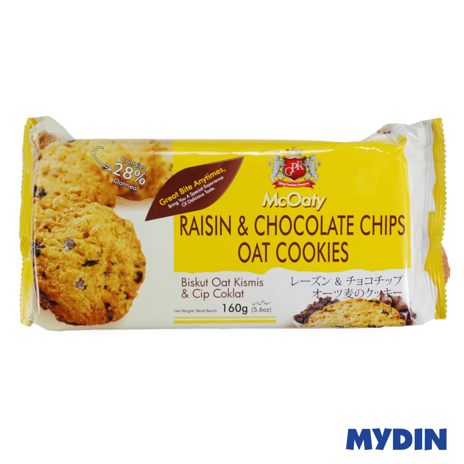 GPR McOaty Raisin & Chocolate Chips Oat Cookies 160g