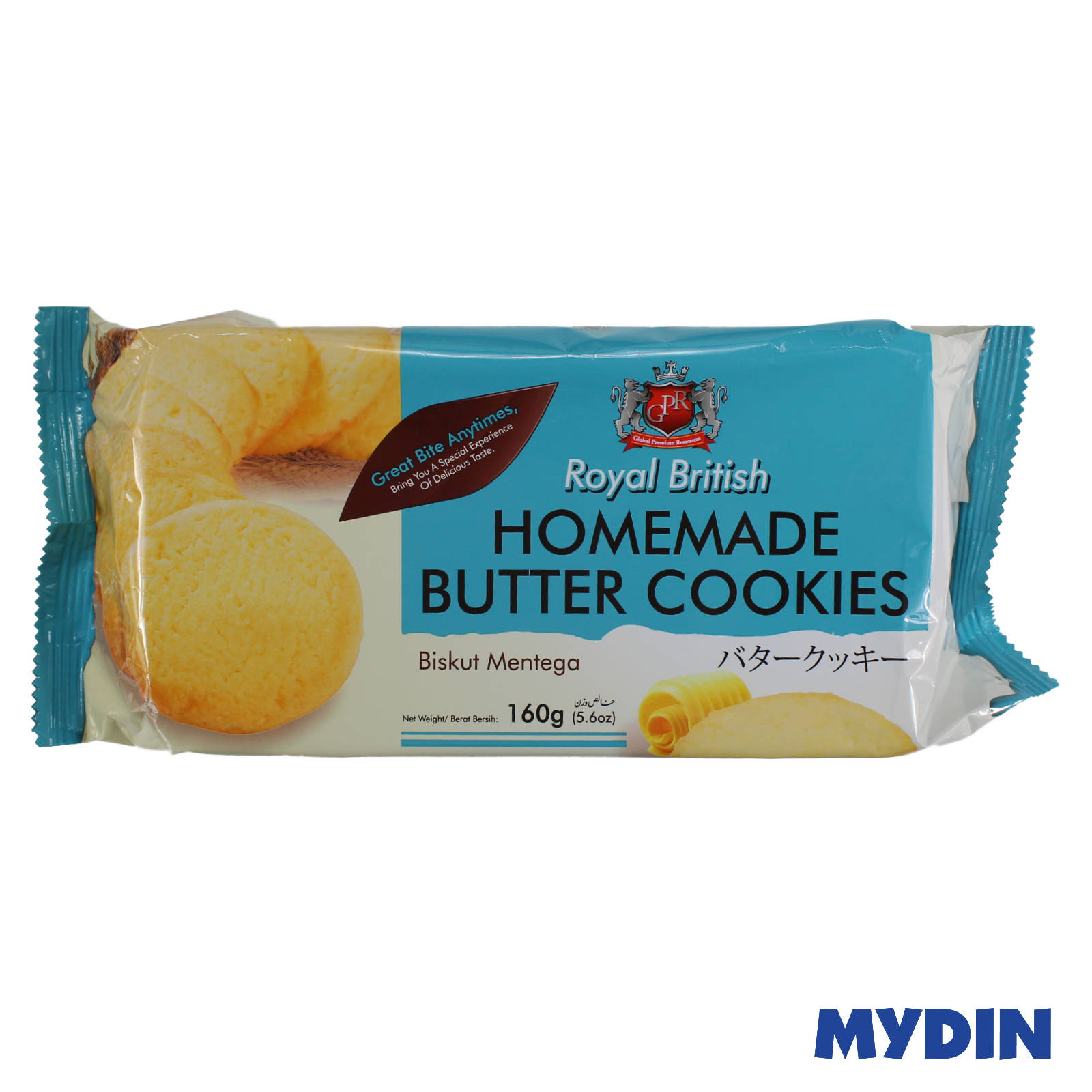 GPR Royal British Homemade Butter Cookies 160g
