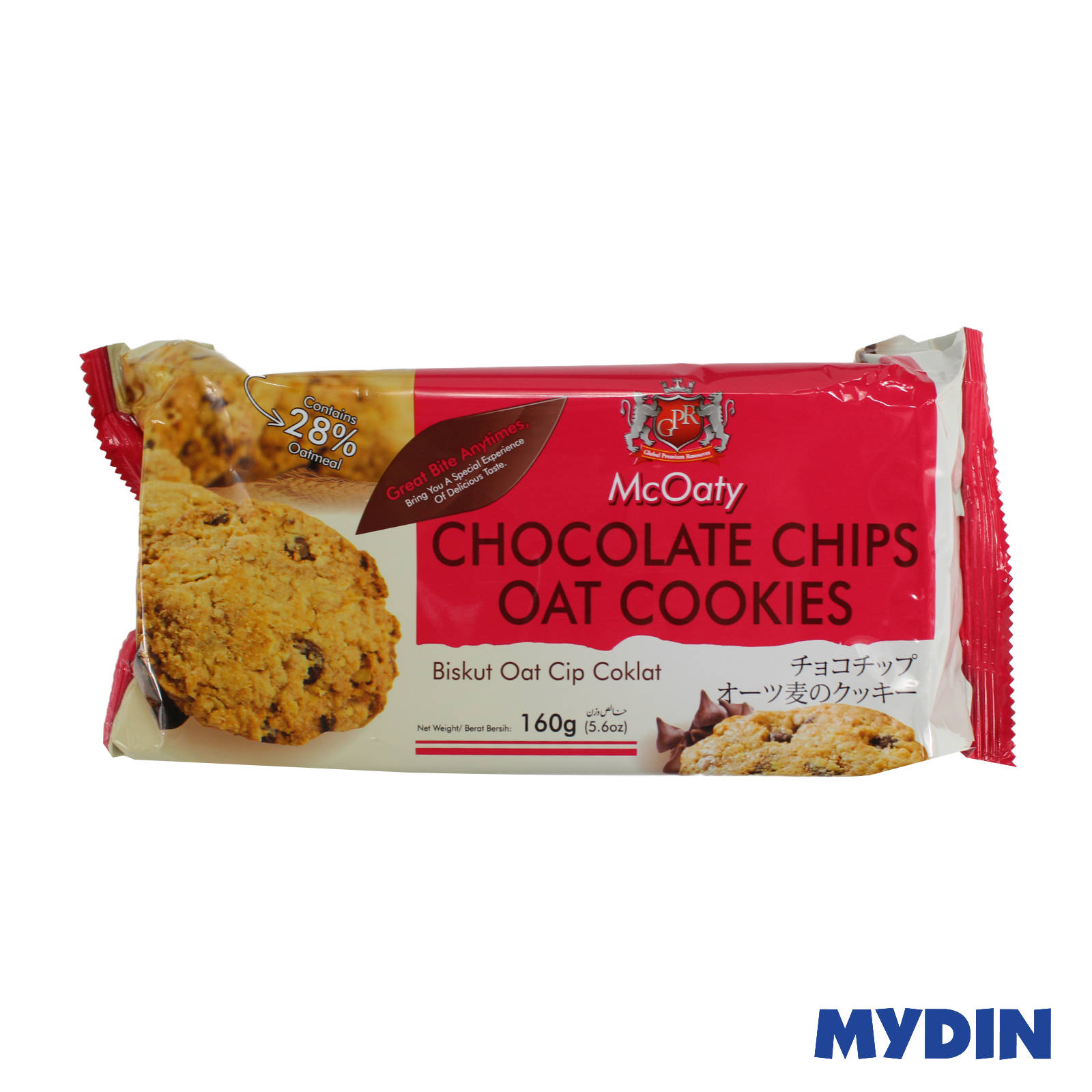 GPR McOaty Chocolate Chips Oat Cookies 160g
