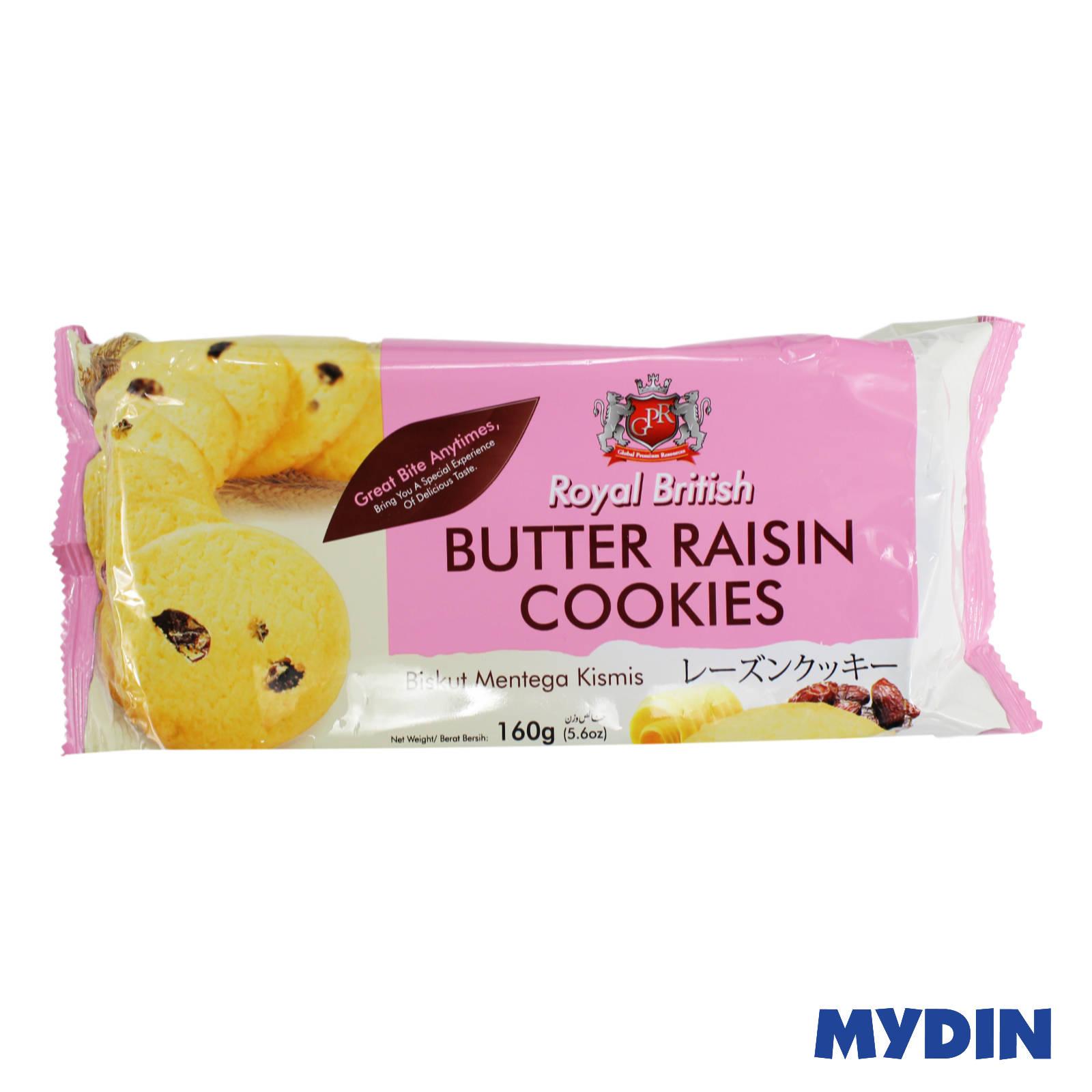 GPR Royal British Butter Raisin Cookies 160g