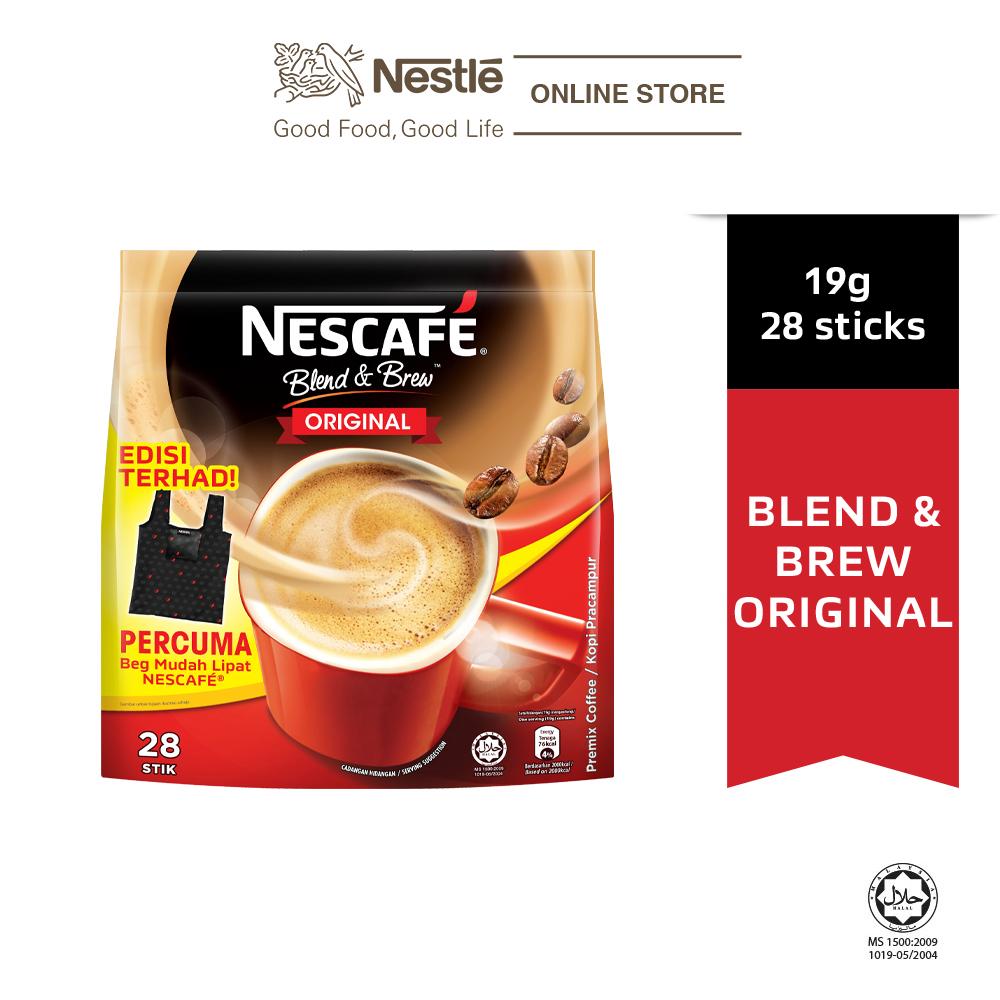 Nescafe Blend and Brew Original 28x19g Free Foldable Bag