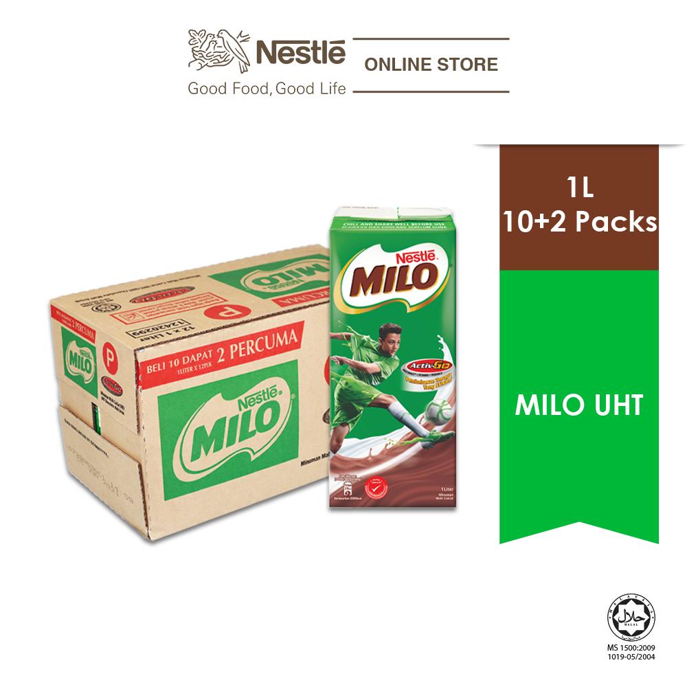 MILO ACTIV-GO Chocolate Malt RTD 1L, 10+2 Bonus pack