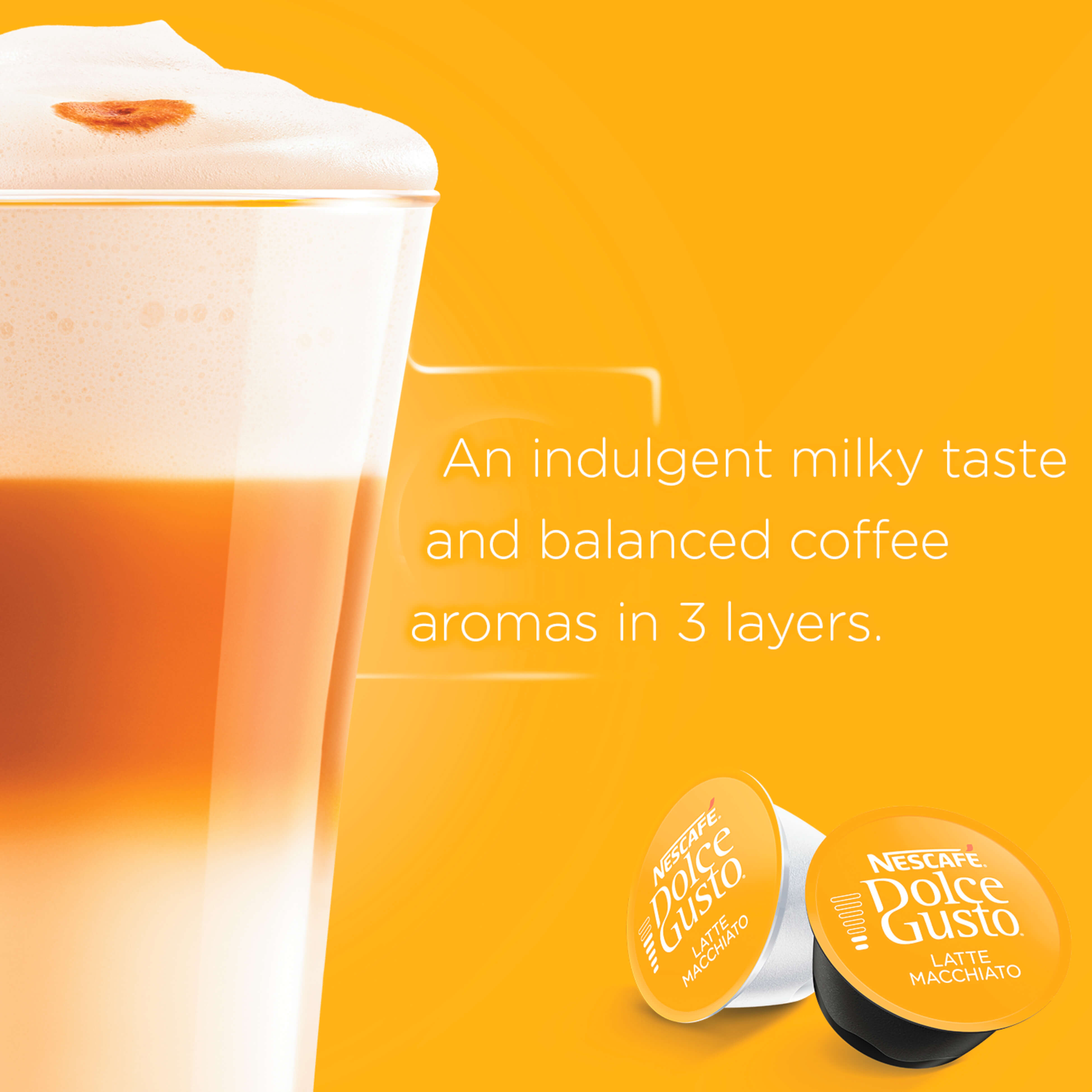 NESCAFE Dolce Gusto Latte Macchiato Coffee 16 Capsules x 2 boxes, Free Starter Kits