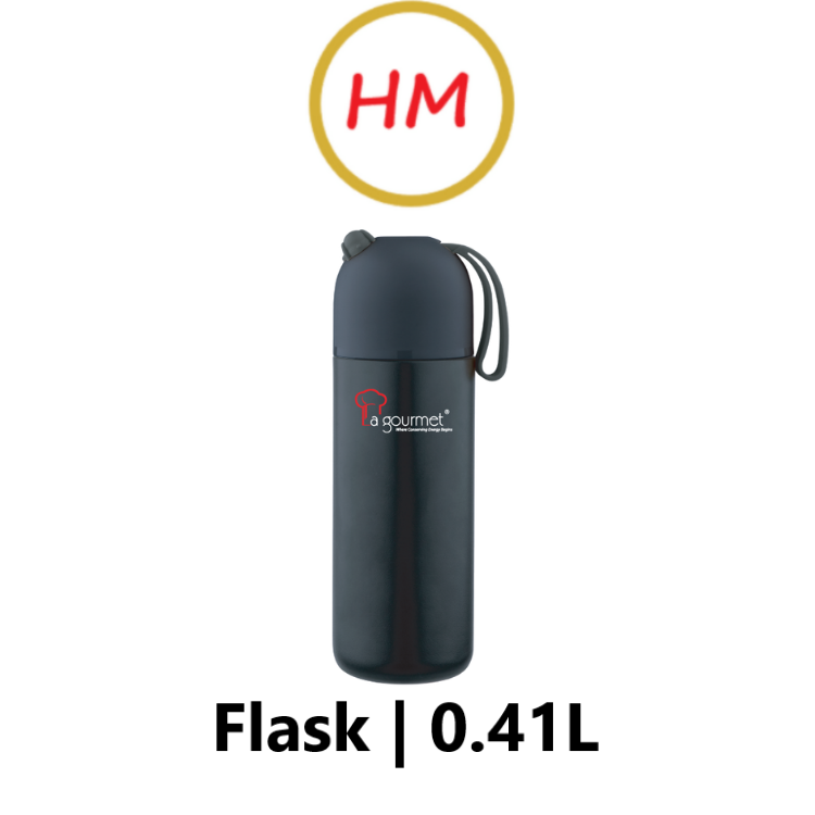 La Gourmet Trendy 0.41L Stainless Steel Thermal Flask - Cool Matt Black
