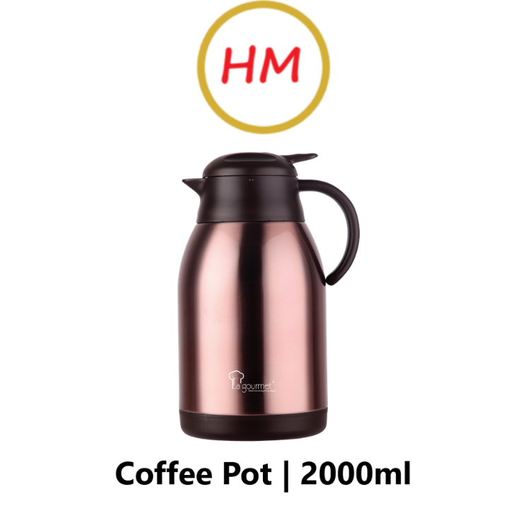 La Gourmet Rose Gold 2000ml Thermal Coffee Pot