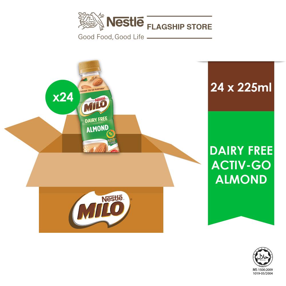 MILO Dairy Free Almond PET 225ml (Plant Based), x24 bottles