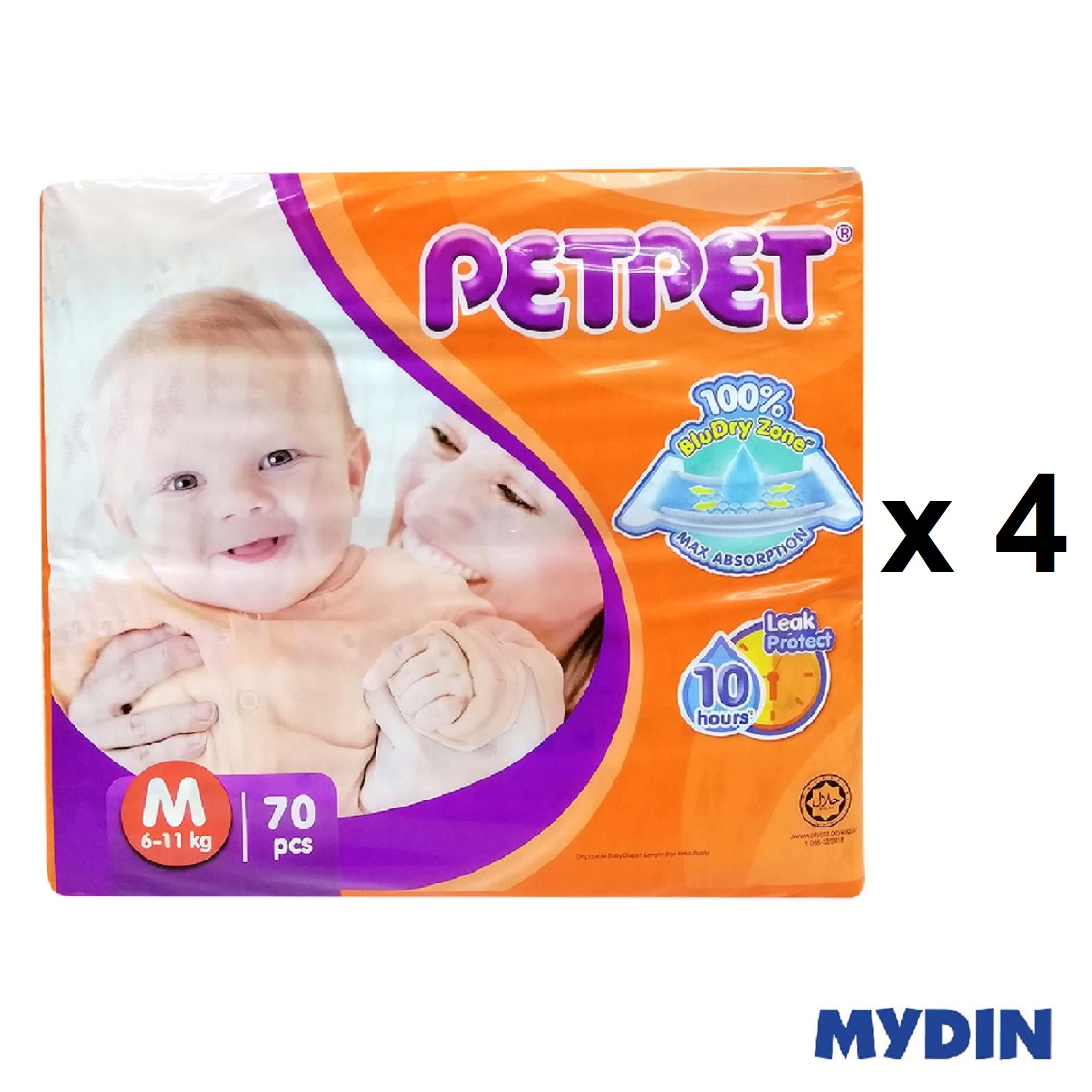 Pet Pet Diapers Mega M70 (4 Packs)