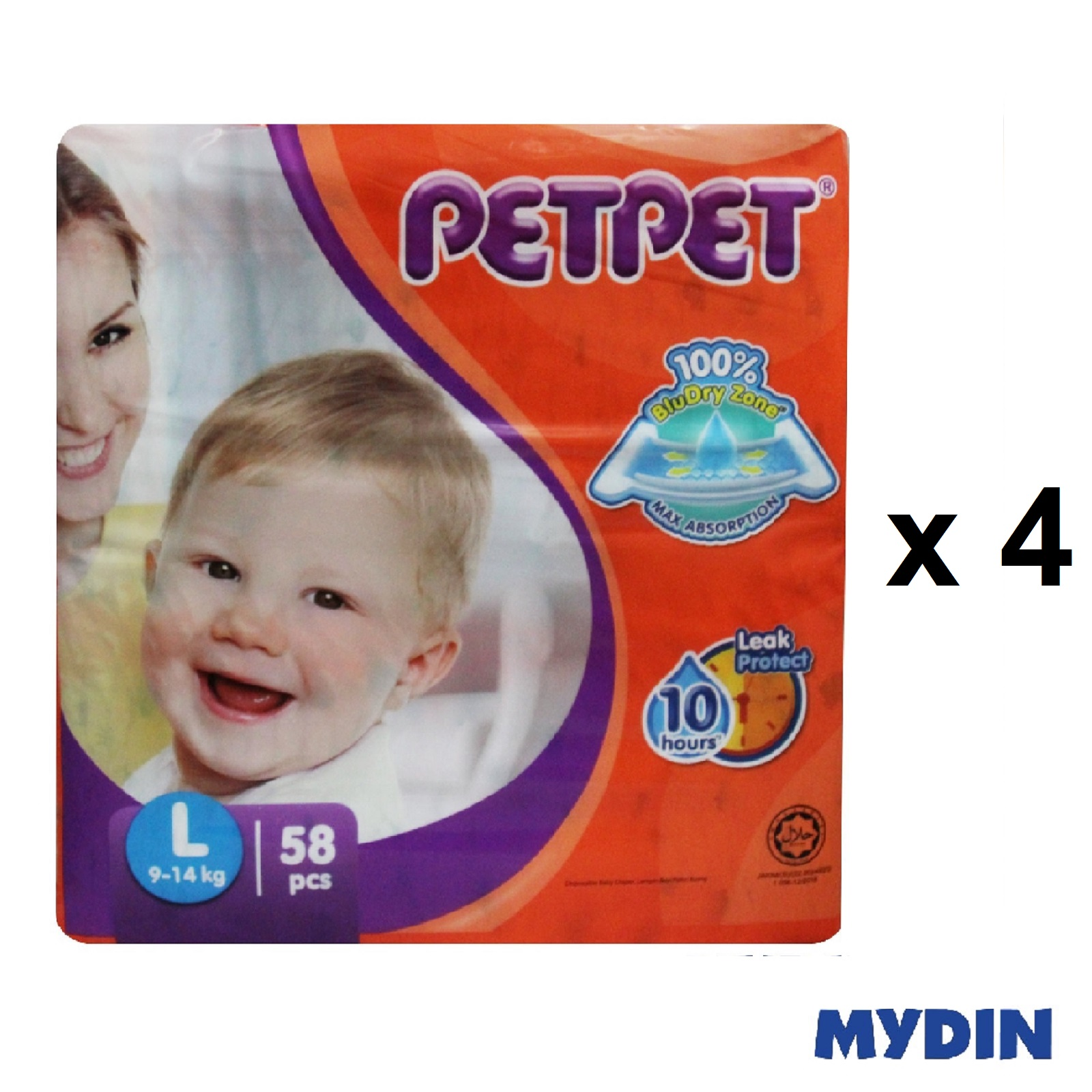 Pet Pet Diapers Mega L58 (4 Packs)