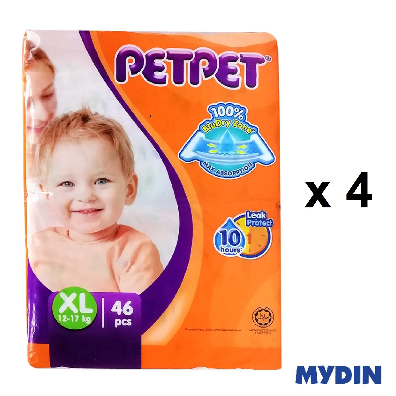 Pet Pet Diapers Mega XL46 (4 Packs)