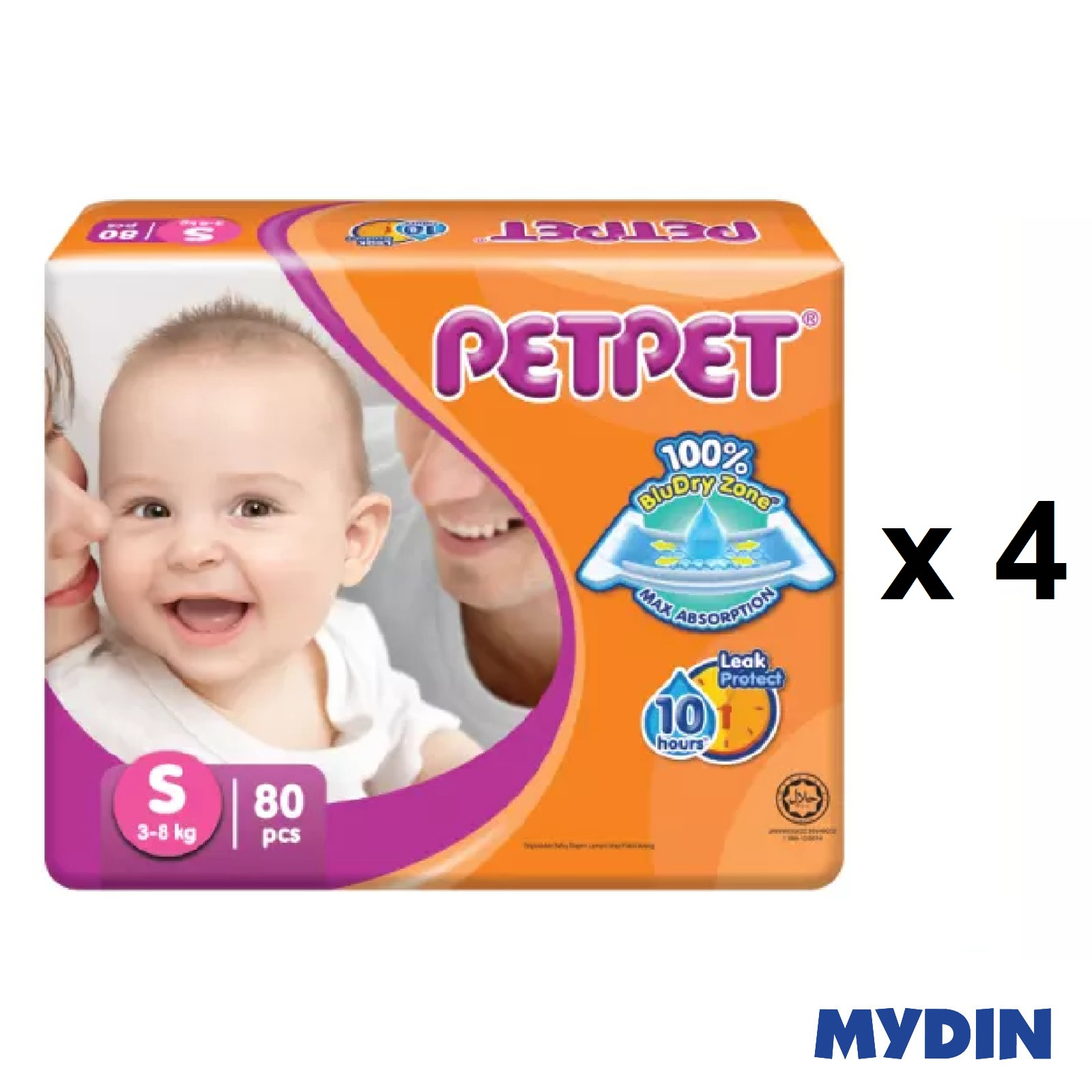 Pet Pet Diapers Mega S80 (4 Packs)
