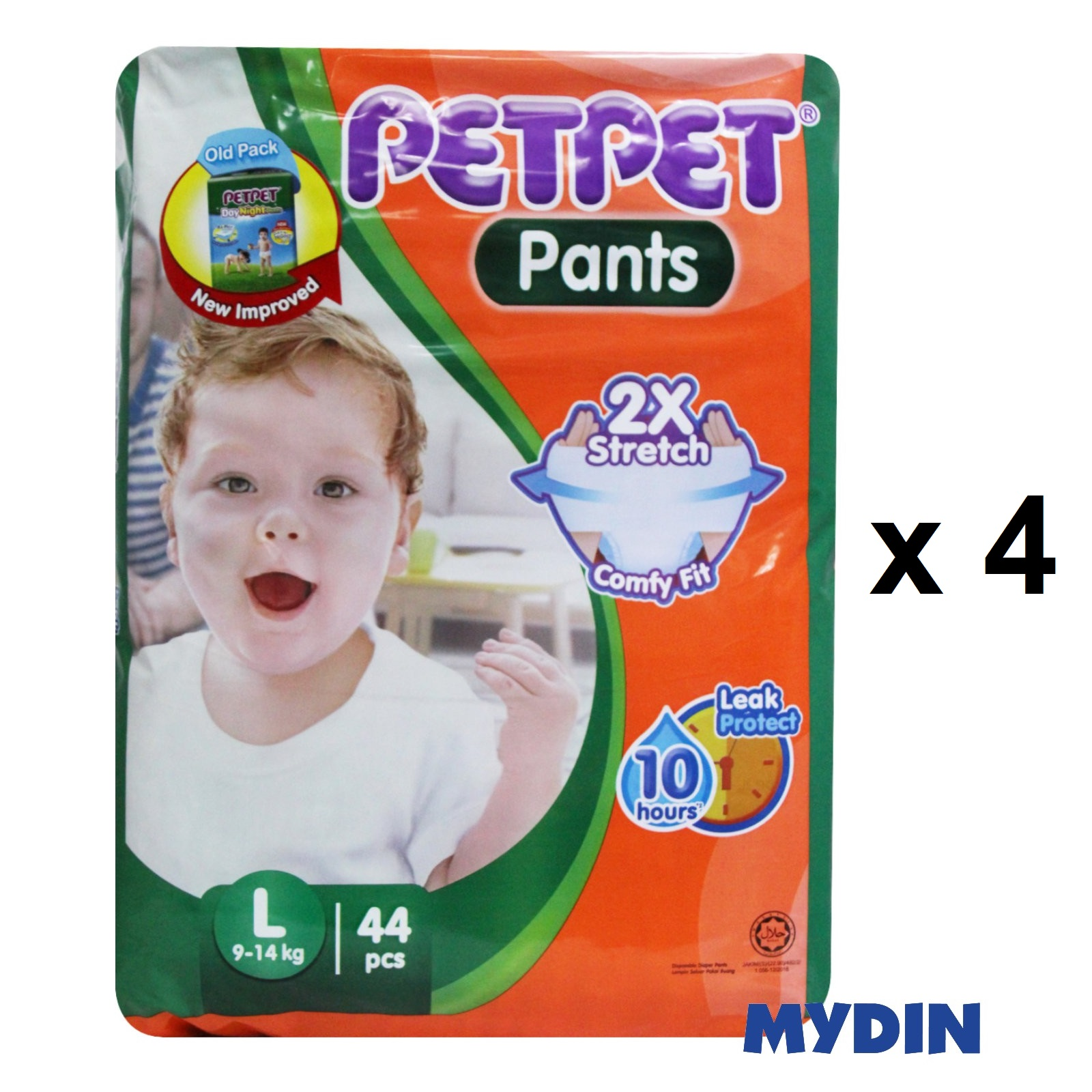 Pet Pet Pants Jumbo L44 (4 Packs)