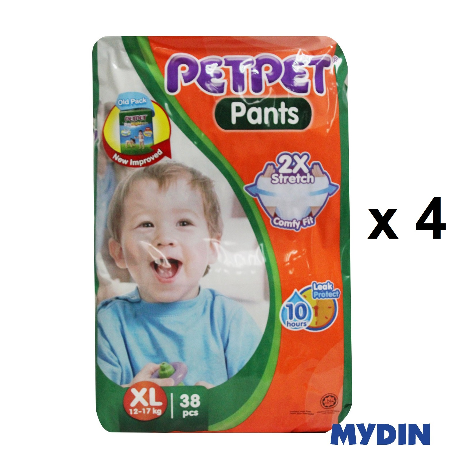 Pet Pet Pants Jumbo XL38 (4 Packs)