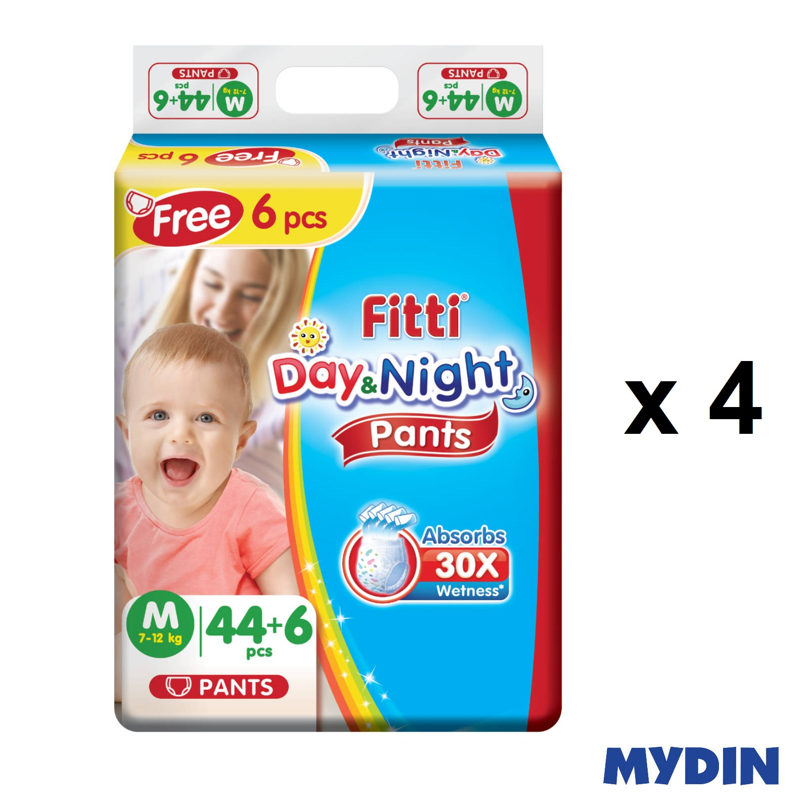 Fitti Day & Night Pants M44+6 (4 Packs)