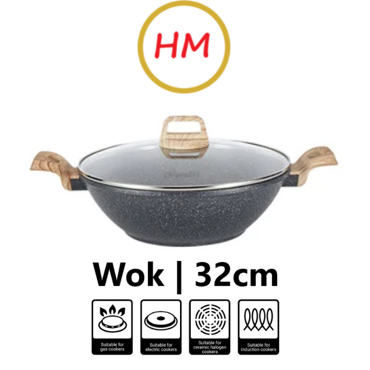 Cuisineur Prime 32cm Covered Wok with Induction
