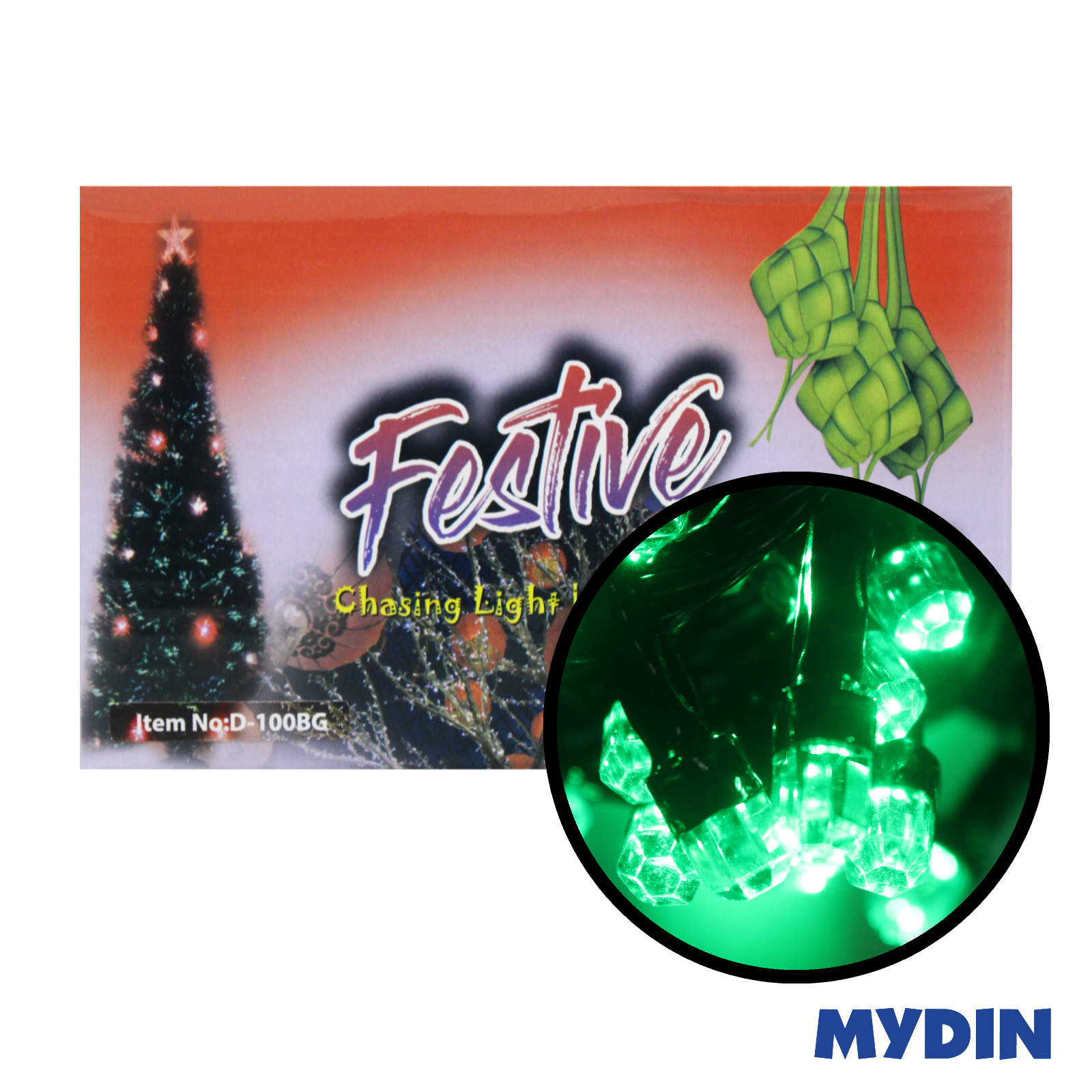Festive Chasing Light Diamond LED 100B Green
