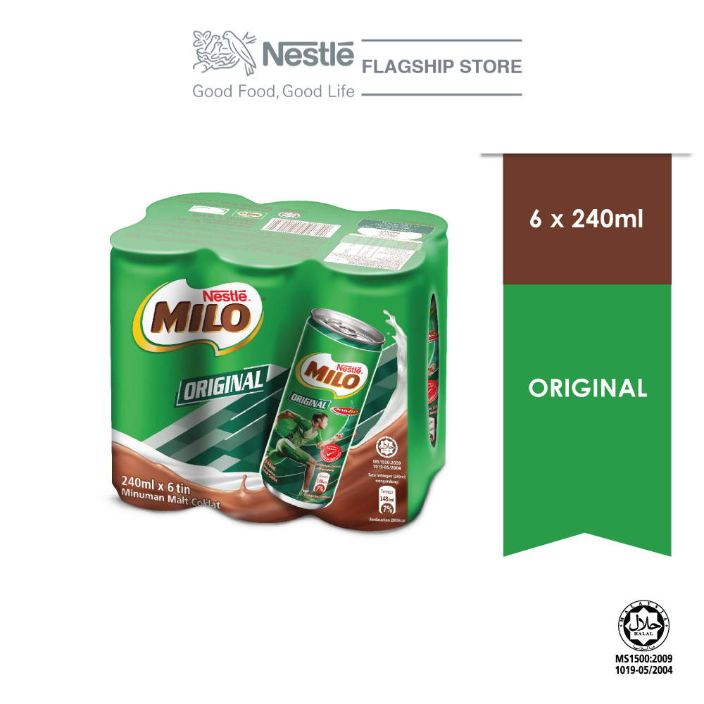 Nestle MILO® Active-Go Chocolate Malt RTD 6x240ml