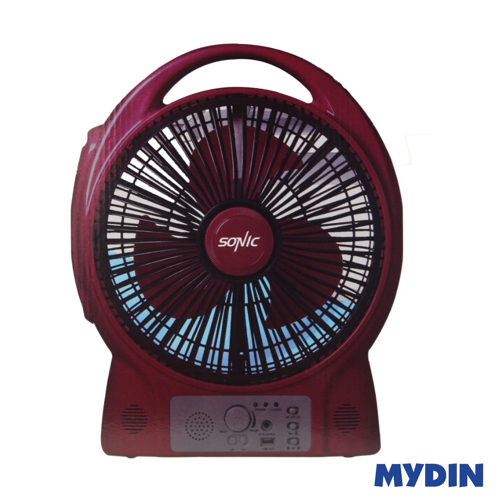 Sonic Rechargeable Fan with LED HL17-FN8