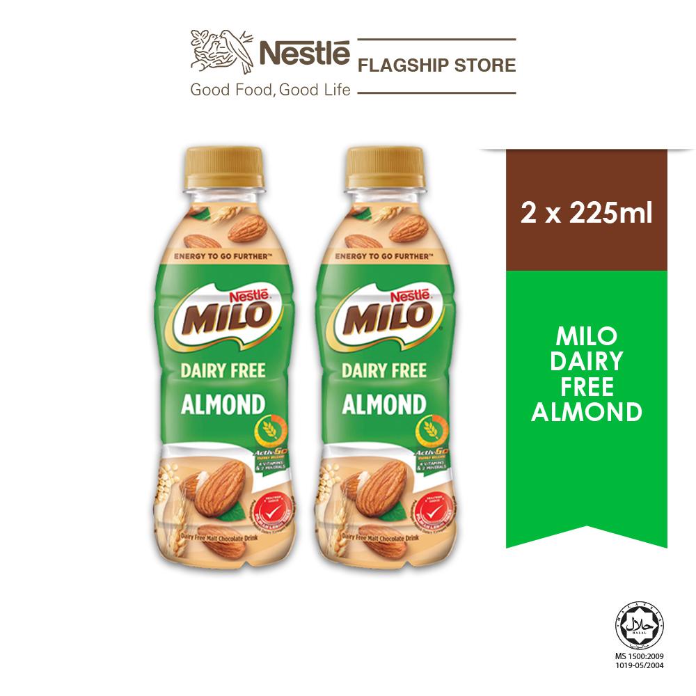 MILO Dairy Free Almond PET 225ml (Plant Based), x2 bottles Exp Date:Dec'21