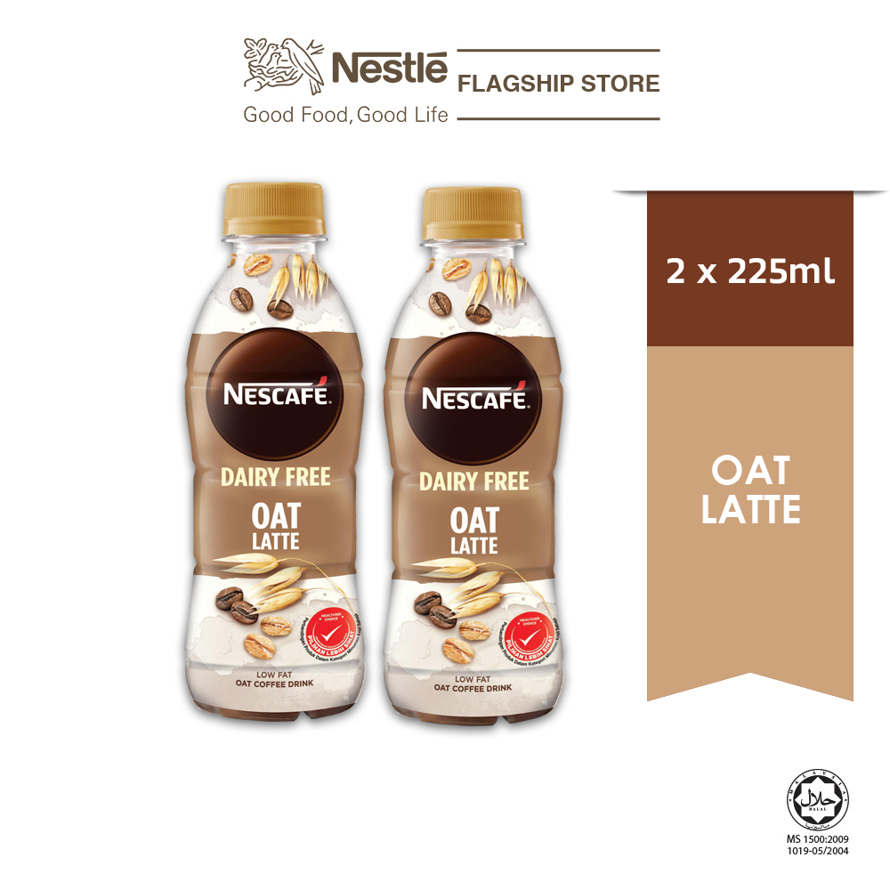 Nescafe Dairy Free Oat Latte PET 225ml (Plant Based), x2 bottles