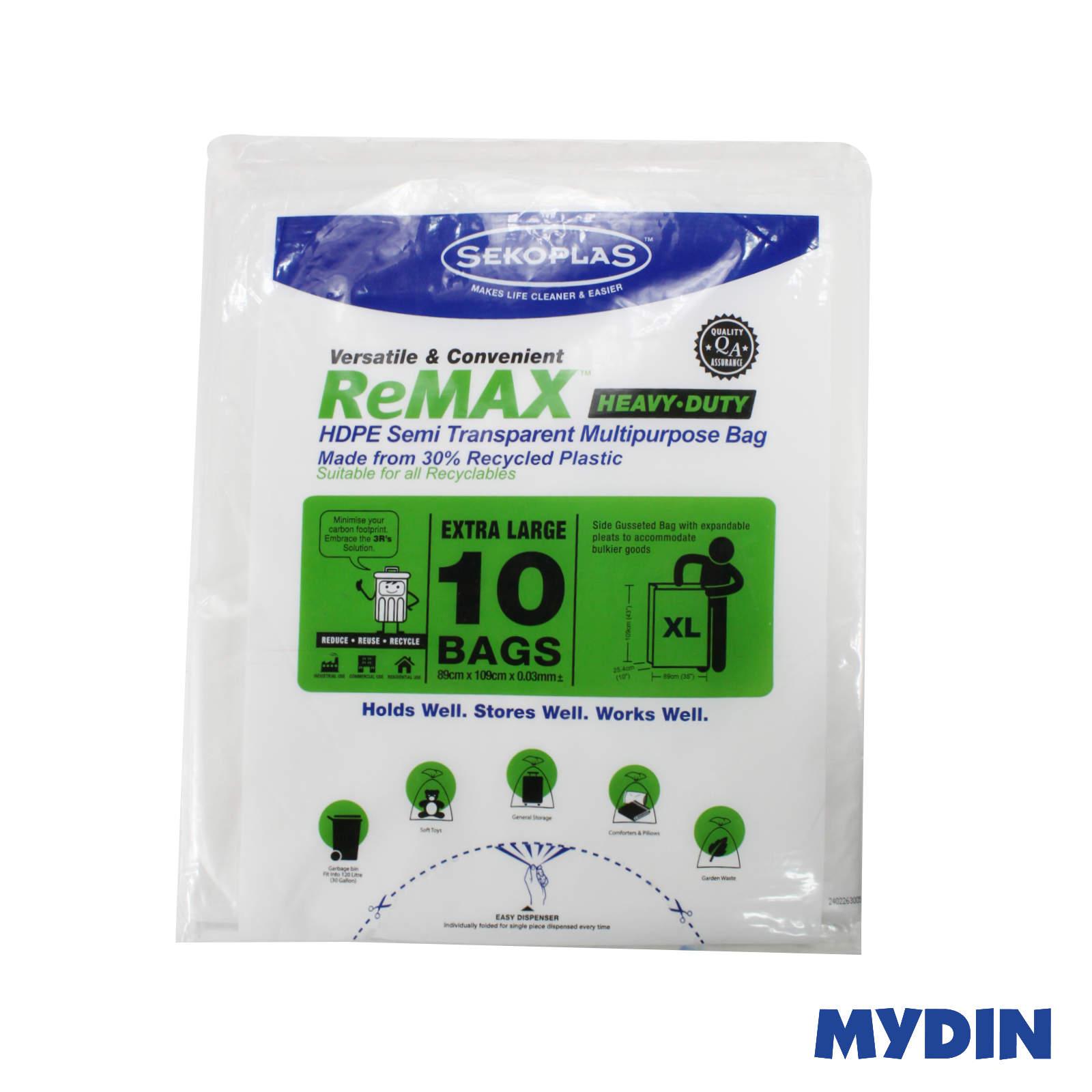 Sekoplas Remax HDPE Garbage Bag (White) - XL