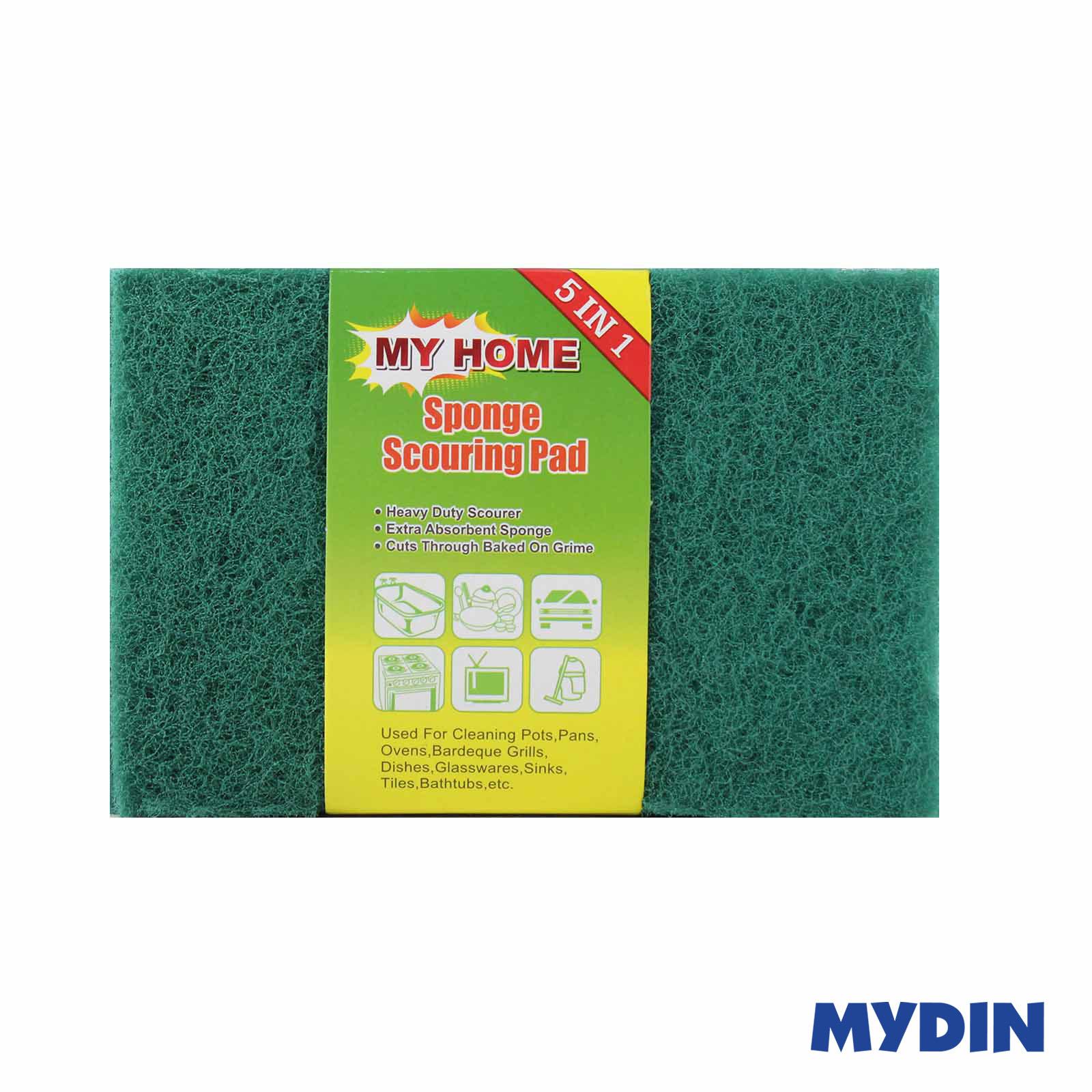 My Home Sponge Scouing Pad (5 Pcs) SMS-5S
