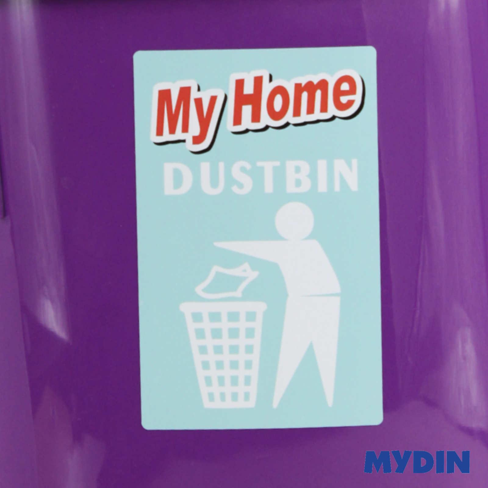 My Home Plastic Swing Top Dustbin 8L E481D/MY