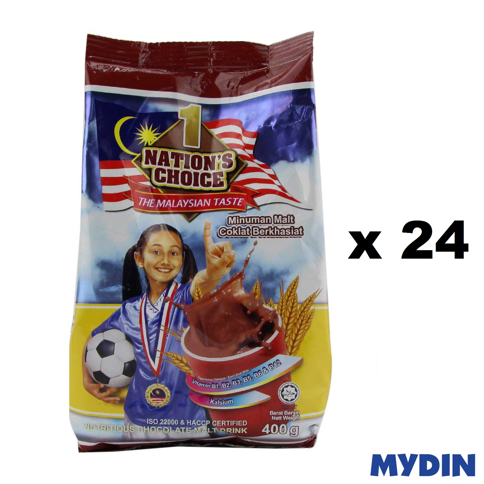 1 Nations Chocolate Malt (400g x 24)