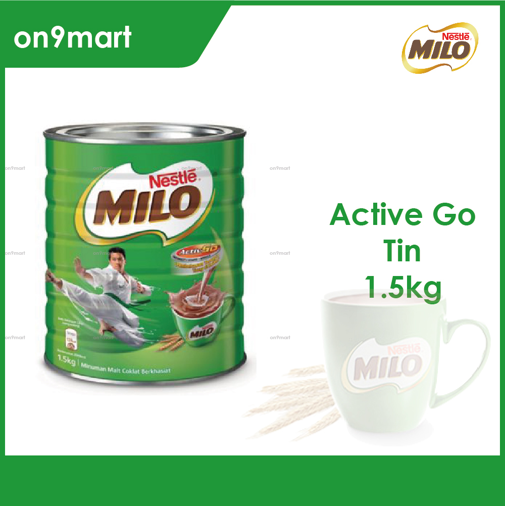 Nestle MILO Activ-Go Chocolate Malt Powder 1.5kg Tin