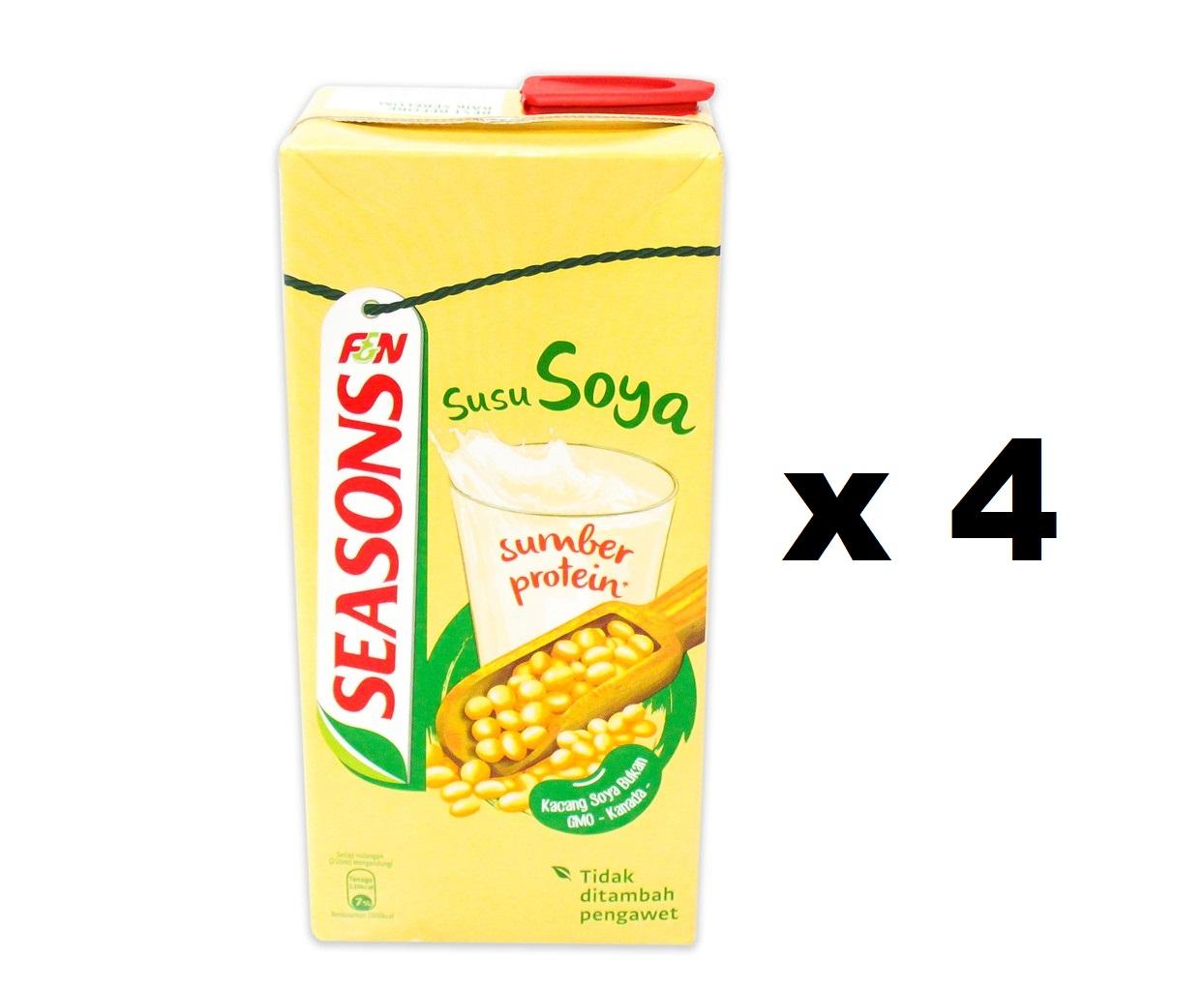 Seasons Soy Bean Drink (4 x 1 liter)