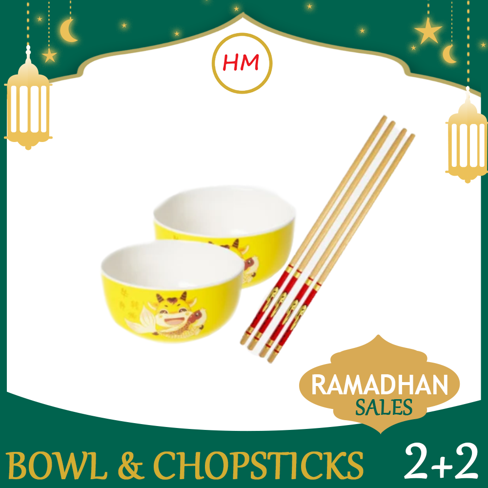 Bowl and Chopstick Set (2set)