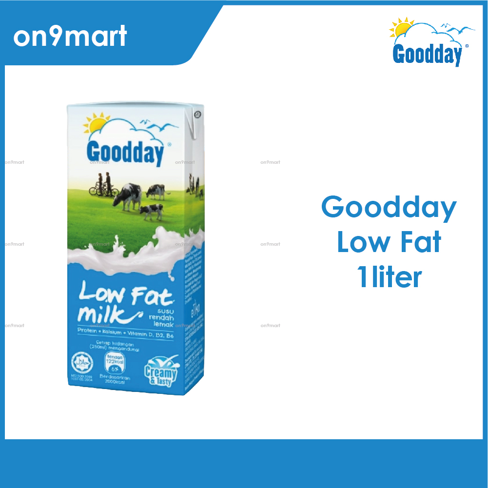 Goodday UHT Milk 1L / Susu UHT 1L Low Fat