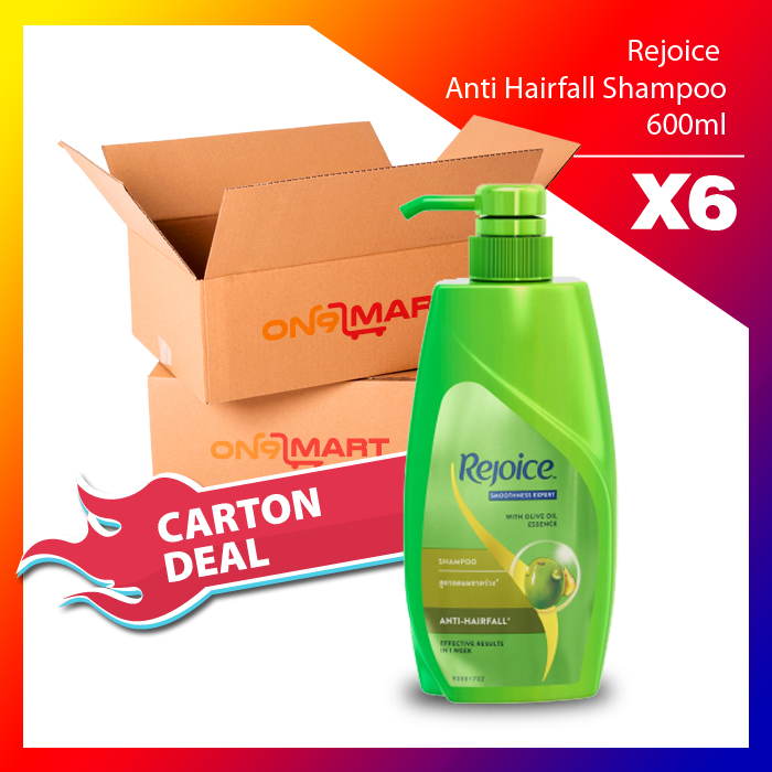 Carton Deal Rejoice Anti Hairfall Hair Shampoo 600ml x 6