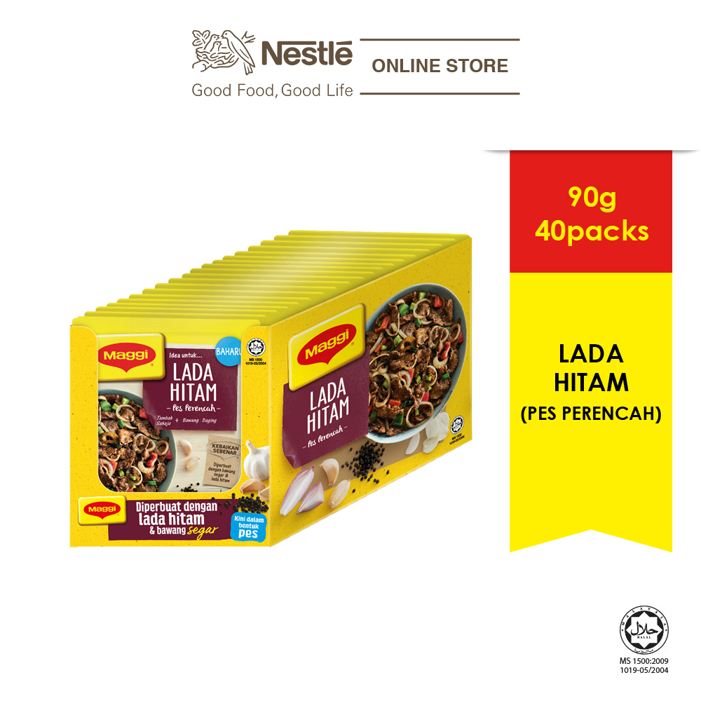 MAGGI Black Pepper Paste 90g, x20packs