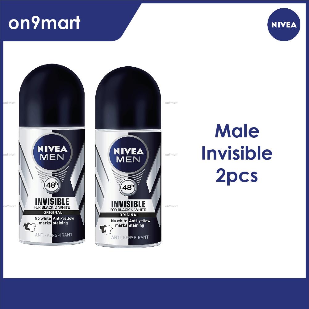 NIVEA Men Deodorant Roll On - Black & White 50ml x 2