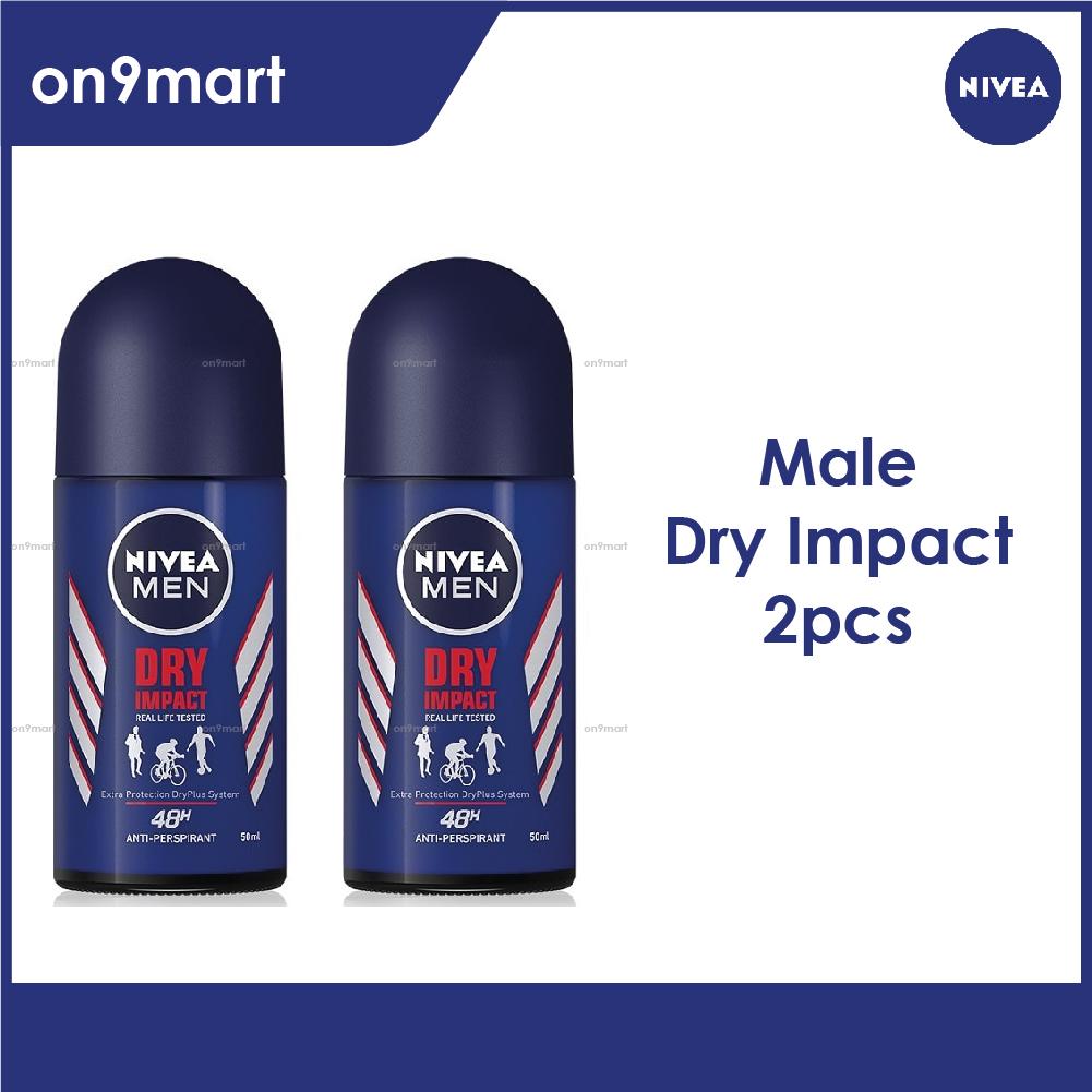 NIVEA Men Deodorant Dry Impact Roll-on 50ml x 2