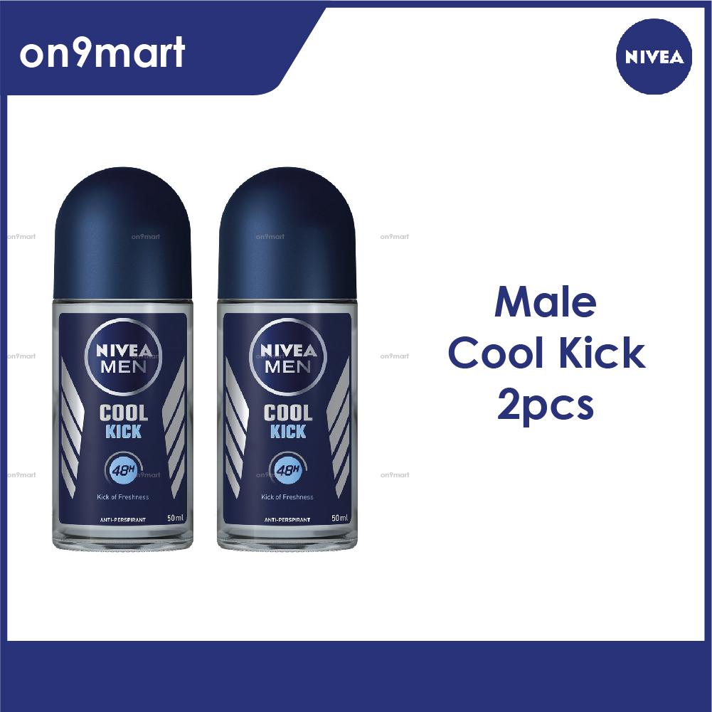 NIVEA Men Deodorant Cool Kick Roll-on 50ml x 2