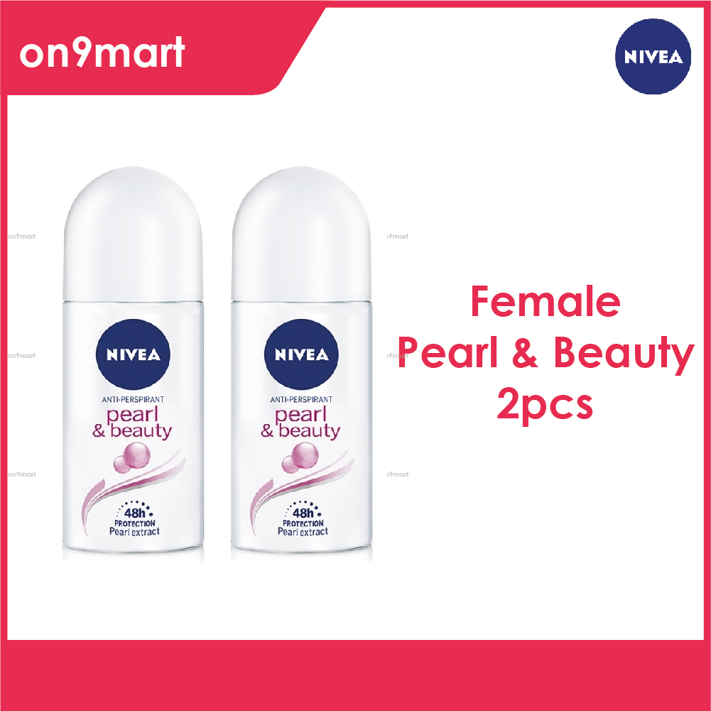 NIVEA Female Deodorant Roll On Pearl Beauty 50ml x 2