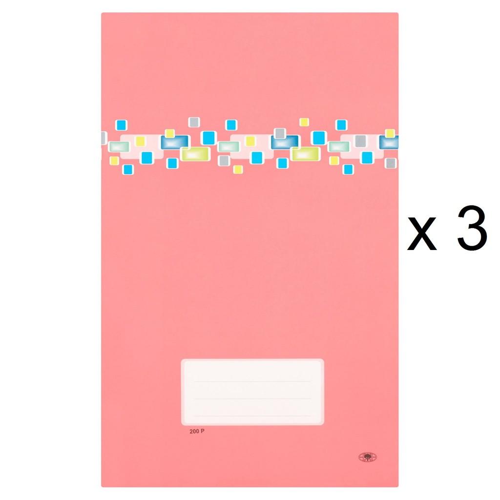 Muda Hard Cover Note Book 33cm X 21cm (200's x 3) HFC209W