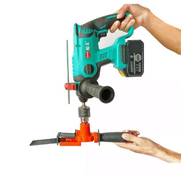 Globedealwin Reciprocating Saw Attachment Adapter Change Electric Drill into for Wood Metal PVC Cutting