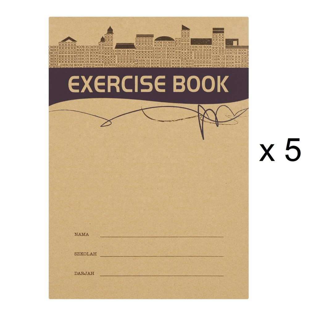 Up Classic Exercise Book CS0095 Kraft Cover (80s x 5)