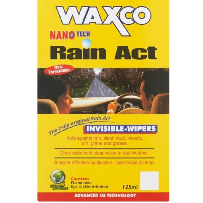 Waxco Nanotech Rain Act Invisible-Wipers (125ml)