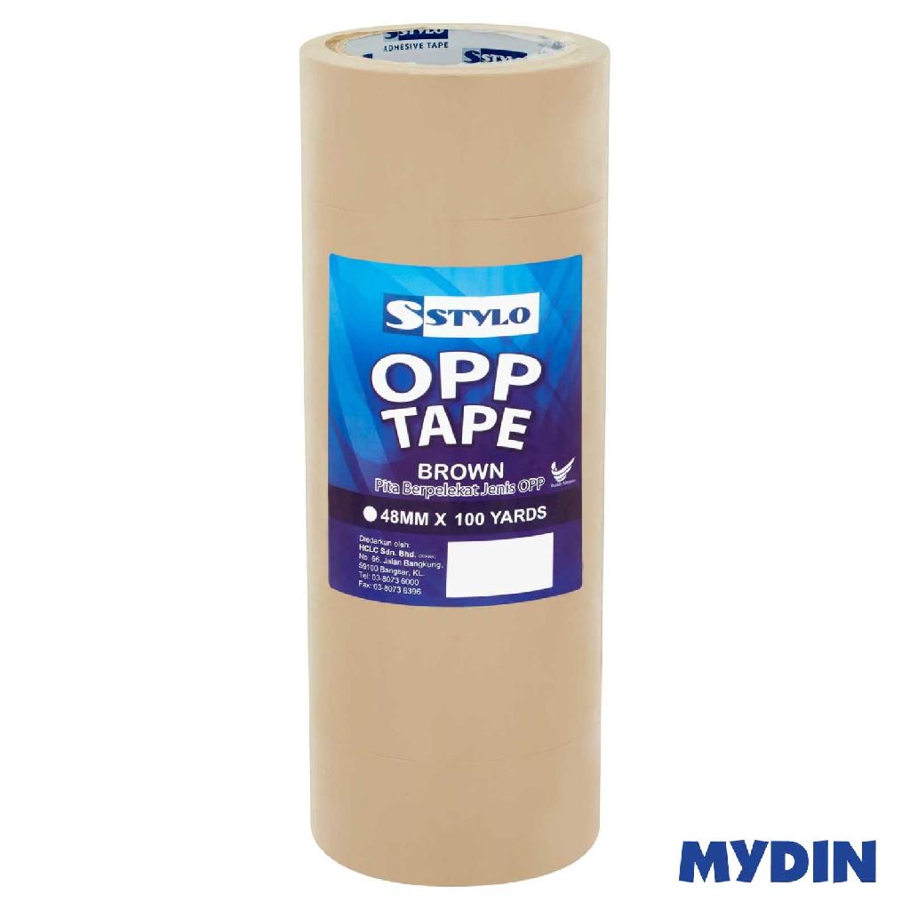 Stylo Opp Tape 48mm x 100yd x 6 rolls (2 variants) ST48100